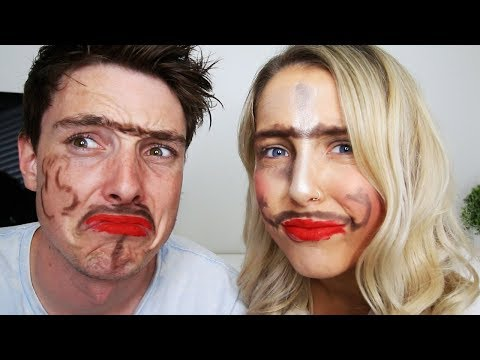 BROTHER DOES MY MAKE UP.....kinda (WITH LAZARBEAM)