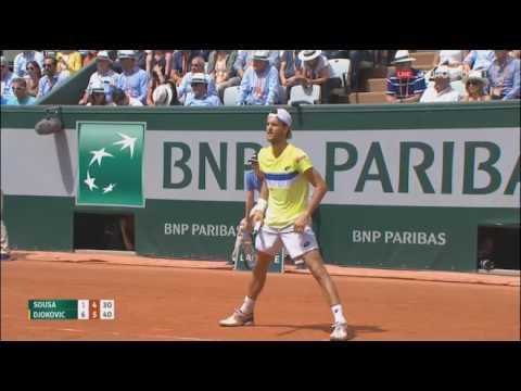 Nole vs Joao Sousa Raland Garros 2017