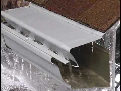 Leafree Water Flow On Seamless Gutters Youtube