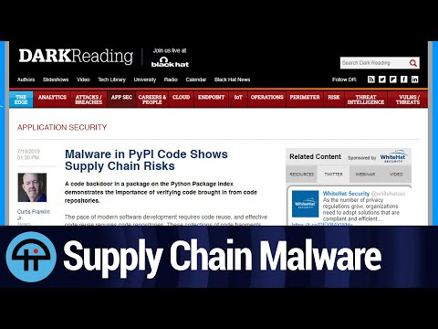 Malware in the Supply Chain
