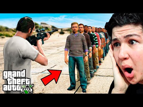¿Cuantas PERSONAS Puedes MATAR con 1 BALA en GTA 5? Grand Theft Auto 5 - GTA V thumbnail
