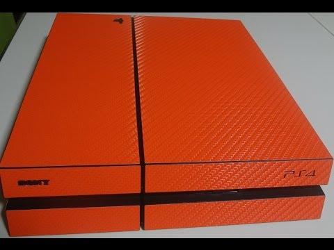 iCarbons - Playstation 4 - Orange Carbon Fiber.