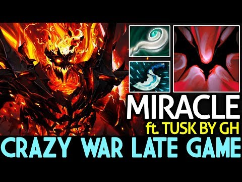 Miracle- [Shadow Fiend] ft. GH | Crazy War Late Game 7.15 Dota 2