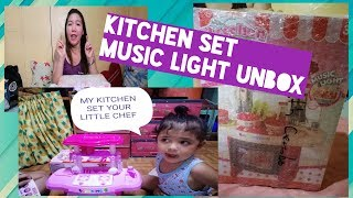UNBOXING KITCHEN SET MUSIC LIGHT/ COOKING TOYS FOR KIDS