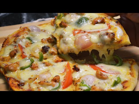 How To Make without oven  Chicken Pizza