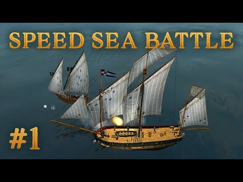 Sinking Two Pirate Ships - Speed Sea Battle #1 - Sea Dogs: To Each His Own - Impossible Difficulty