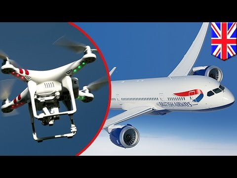 Drone hits British Airways plane in London's Heathrow airport - TomoNews