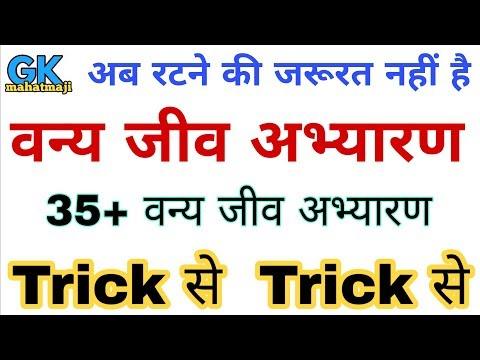 GK Trick | वन्य जीव अभ्यारण व राष्ट्रीय उद्यान | Sanctuaries & National Park in India | Gk Railway
