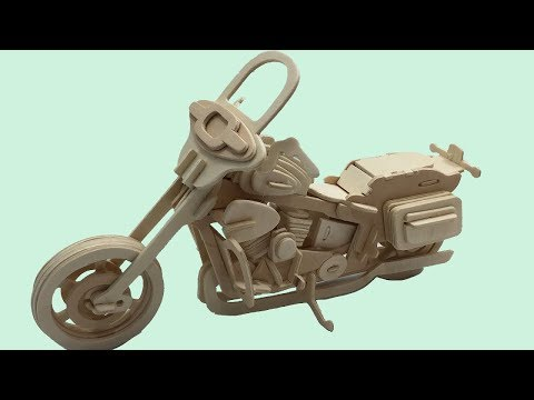 Sea-Land DIY 3D Woodcraft Construction Kit MOTORCYCLE HD II