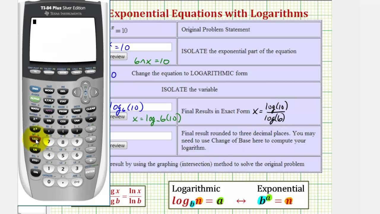 Exponential Equation Definition