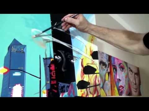 Big City-Scarface, acrylic painting on canvas