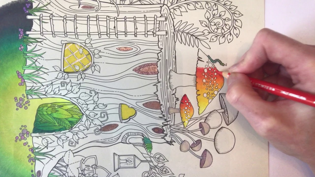 Tutorial 2 Johanna Basford Enchanted Forest Tree House