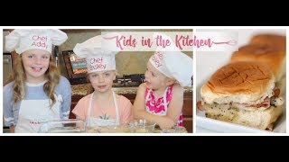 The BEST Poppyseed Sliders with Kids in the Kitchen