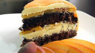 видео Торт с персиками