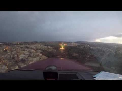 Beating the weather in Luqa - VFR Flight (LICR-LMML)