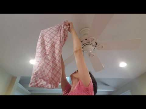 Fix it Friday! How to clean ceiling fan blades without getting dust everywhere