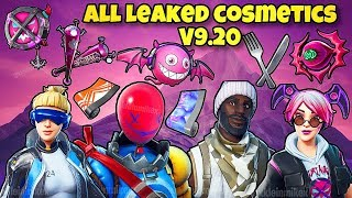 *NEW* ALL LEAKED SKINS, BACK BLINGS, WRAPS, GLIDER & PICKAXES! Fortnite Battle Royale - v9.20 LEAKS
