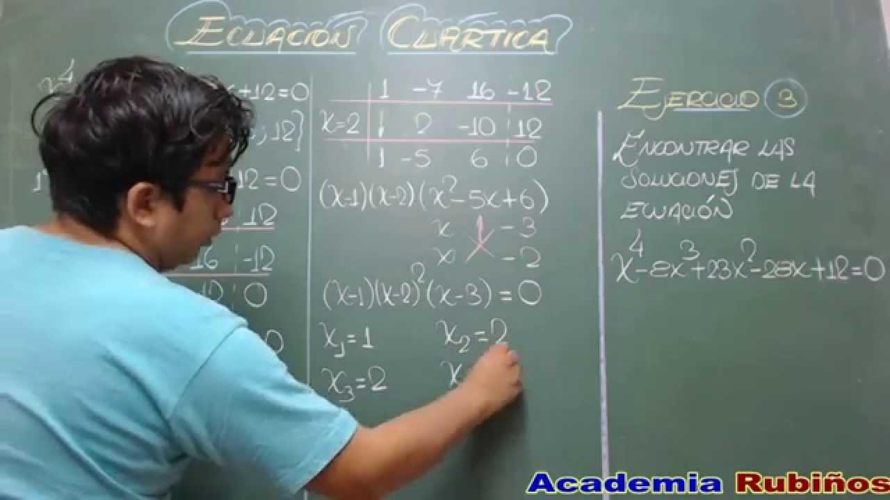 Ecuaciones cuarticas ejercicios resueltos por aspa doble for Ecuaciones de cuarto grado