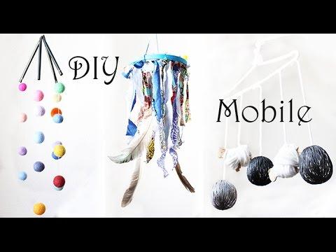3 einfache diy baby mobile ideen ohne n hen basteln aus. Black Bedroom Furniture Sets. Home Design Ideas