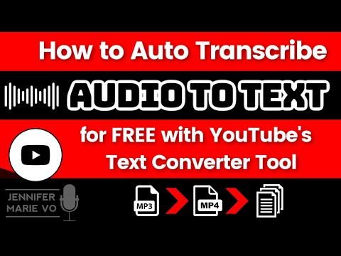 How to Convert Video / Audio to Text Automatically for FREE using YouTube's Text Subtitles Converter
