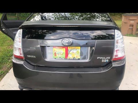Toyota Prius How To Open Rare Door When Battery Is Dead Youtube
