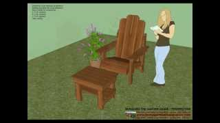 Gc100 - Garden Chair Plans - Out Door Furniture Plans - Woodworking Plans