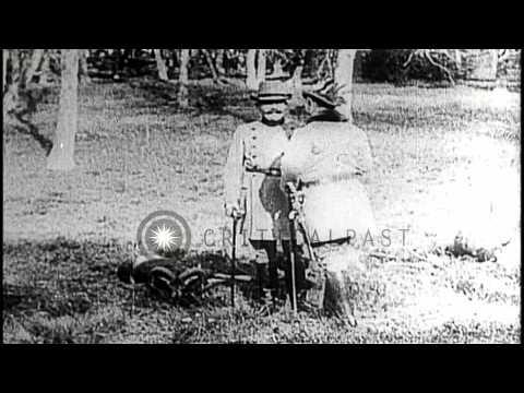 Archduke Franz Ferdinand and Kaiser Wilhelm II of Germany enjoy...HD Stock Footage