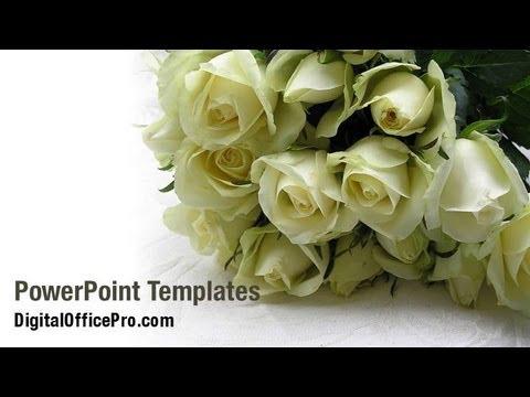 Wedding Roses Powerpoint Template Backgrounds Digitalofficepro