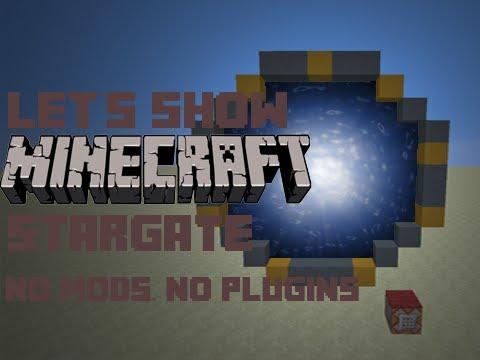 Lets Show Minecraft Stargate Ohne Mods Oder Plugins Free - Minecraft spiele ohne plugin