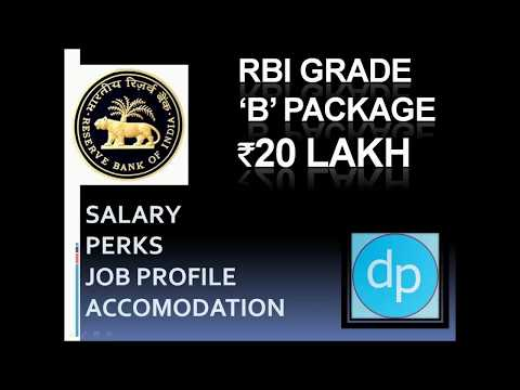 RBI Grade B Salary 20 Lakh per annum