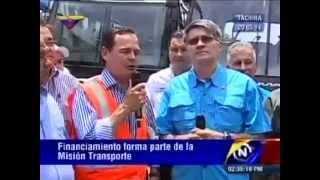 Entrega de unidades de transporte en el estado Táchira