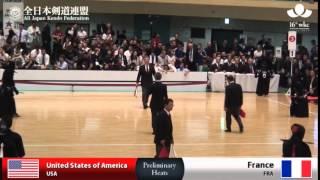 (USA)America (5)2 - 0(2) France(FRA) - 16th World Kendo Championships - Men's Team