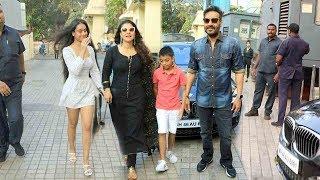 Ajay Devgan & Kajol With Family- Daughter Nysa Devgn & Son Yug D. @Tanhaji GRAND Premiere