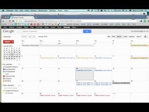 Joomla - Embed Google Calendar