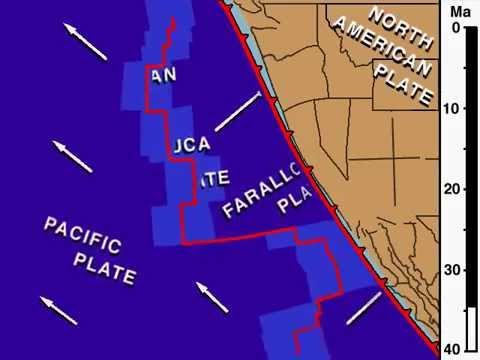 Northeast Pacific and Western North American  Plate Tectonic History, animation