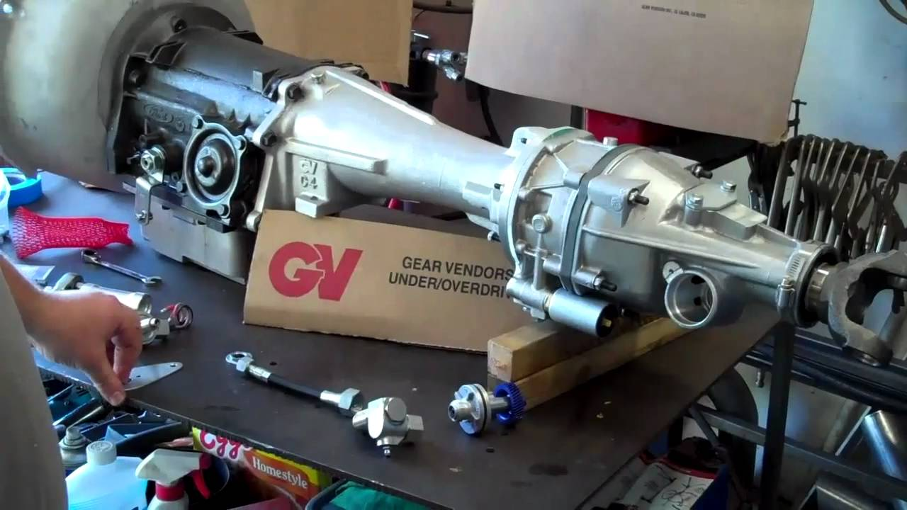 part 2 gear vendors install on ford c4 transmission for 67 mustang youtube [ 1280 x 720 Pixel ]