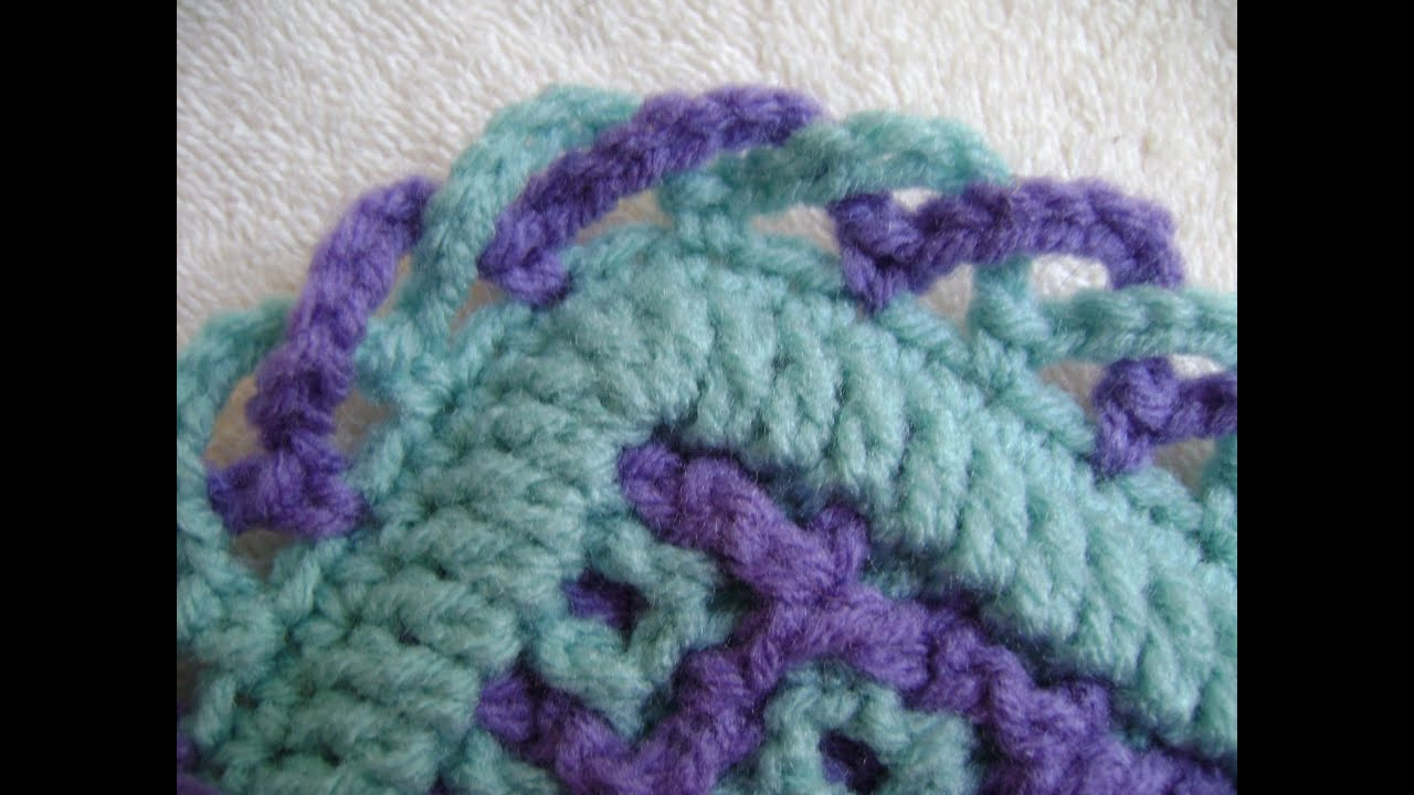 Crochet Patterns Edgings And Borders : Interlocking Crochet? - Criss-Cross Edging - YouTube