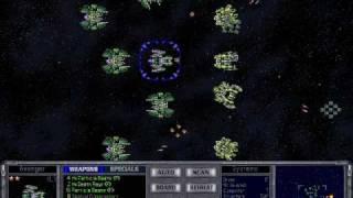 Master of Orion 2 Fleet Capturing Battle