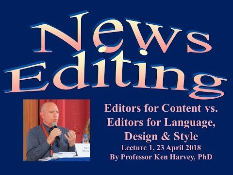 News Editing by Ken Harvey - Lecture 1