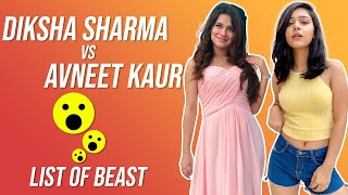 Diksha sharma vs Avneet kaur commercial in hindi | List of beast |