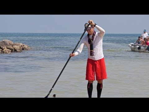 First person stand-up paddle boards 111 miles from Cuba to Florida