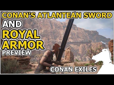 CONAN'S ATLANTEAN Sword And ROYAL Armor Set PREVIEW LEAKED!   CONAN EXILES