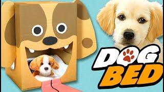 DIY Dog Bed - Cardboard Craft Ideas For Kids Box Yourself