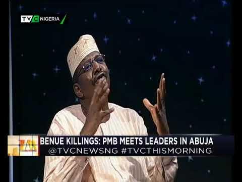 This Morning 15th Jan. 2018 | Benue Killings: Buhari meets with leaders