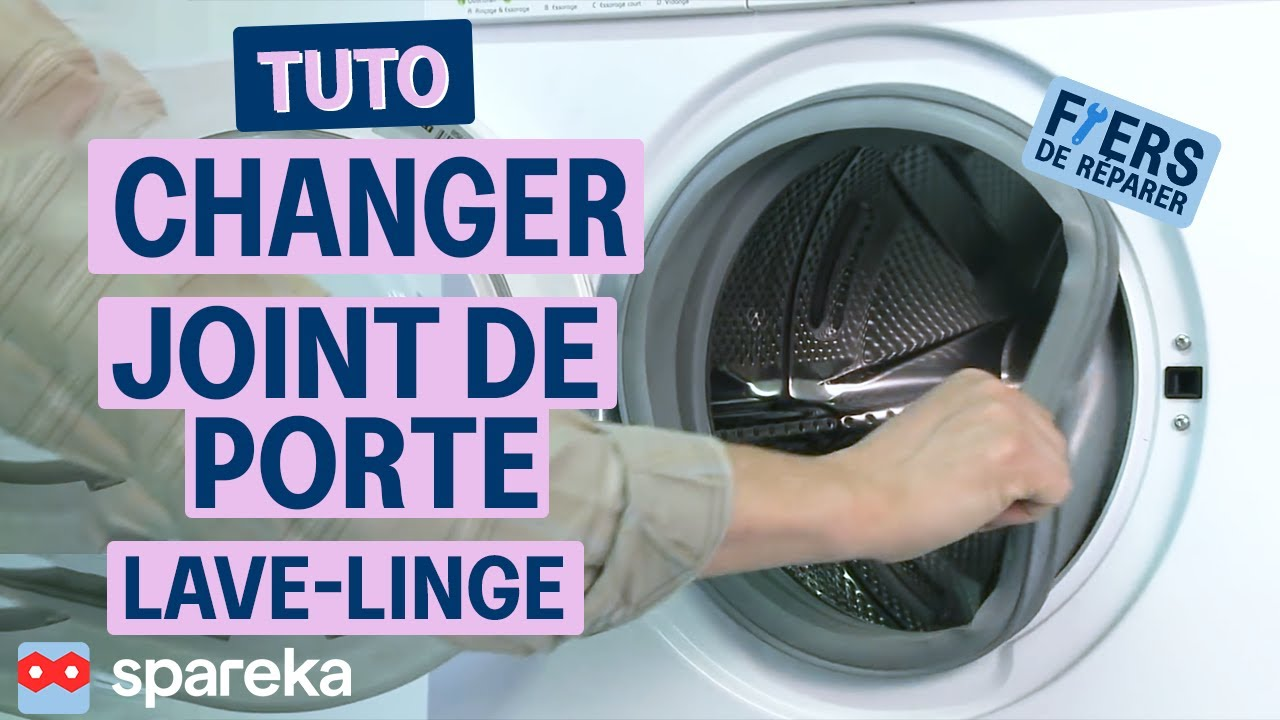 Comment changer la manchette de votre lave linge youtube - Dimension machine a laver a hublot ...