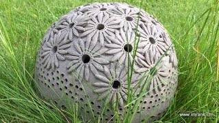 Keramik Margeriten Kugel