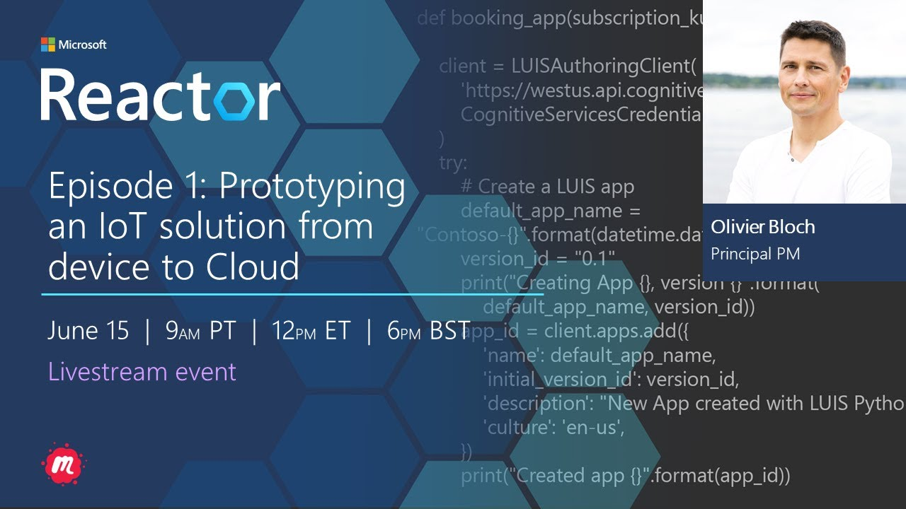 Prototyping an IoT solution from device to Cloud: Episode 1