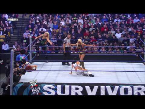 Maryse uses the Figure Four to make Candice Michelle tap out: Survivor Series 2008