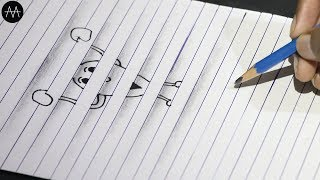 Very Easy !! HOW TO DRAW 3D ON PAPER - Cartoon#2