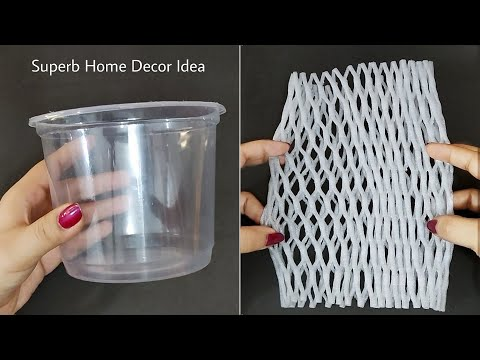 3 Superb Home Decor Ideas using Waste Fruit Foam Net and Waste Plastic Container - DIY Crafts
